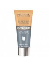 Podkład do twarzy MakeUp antybakteryjny fluid matujący JASNY / IVORY FLOSLEK 30ml