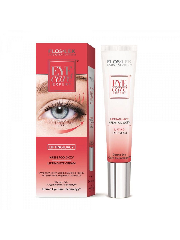 liftingujący dermonaprawczy krem pod oczy przeciwzmarszczkowy Floslek Eye Care Expert