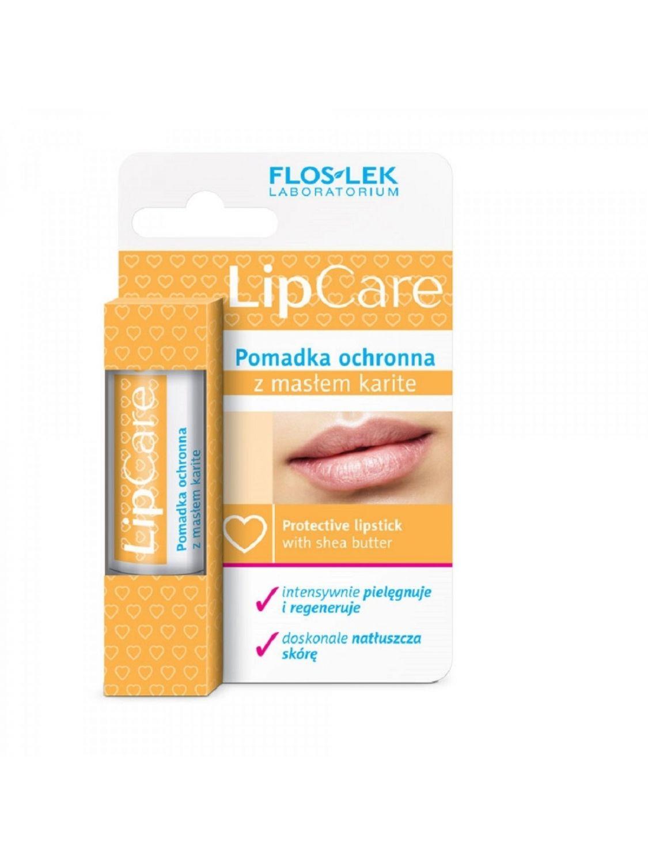 Pomadka do ust z masłem Karite lipstick LIP CARE ochronna FLOSLEK