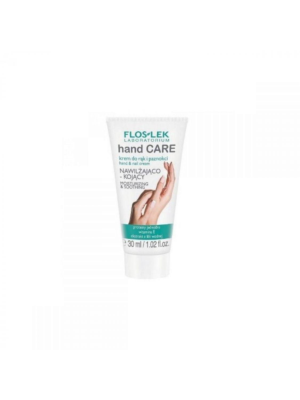Floslek Hand Care mini krem do rąk i paznokci nawilżająco - kojący