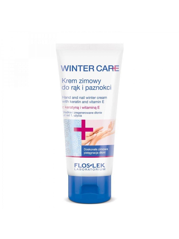 Pielęgnacyjny krem zimowy do rąk i paznokci WINTER CARE z witaminą E i keratyną FLOSLEK 100ml