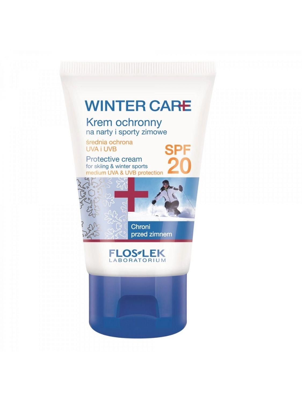 Krem ochronny zimowy WINTER CARE na narty i sporty zimowe z filtrem SPF20 FLOSLEK 50ml