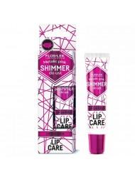 Shimmer do ust Metalic Pink Błyszczyk nawilżający w kolorze metaliczny różowy Floslek Lip Care nawilżający