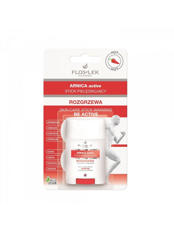 FLOSLEK PHARMA Arnica Active Stick pielęgnujący w sztyfcie ROZGRZEWA 16 g