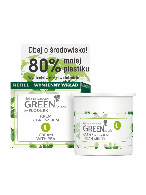 GREEN for skin Zielone warzywa Krem z groszkiem na noc refill FLOSLEK