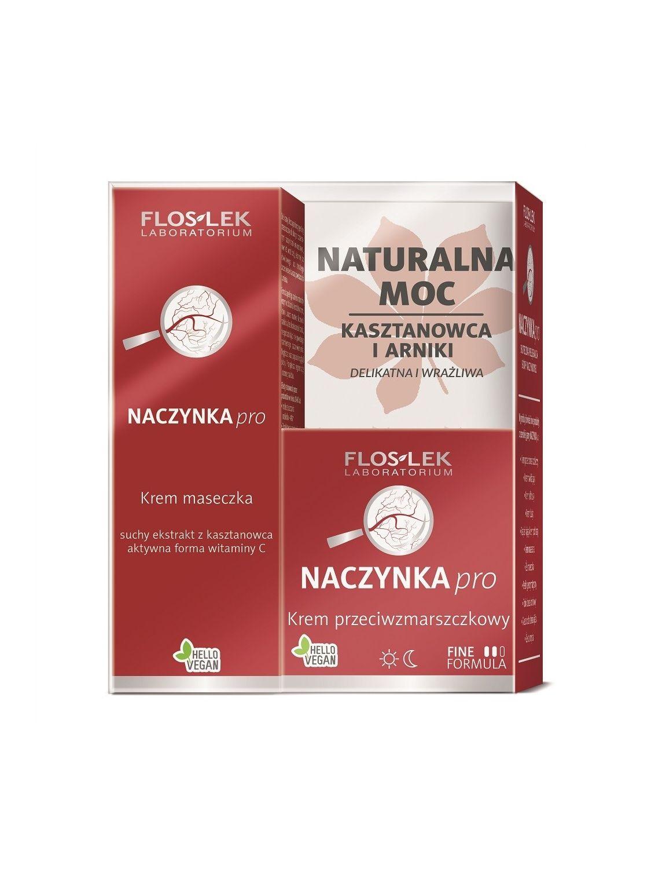 Zestaw NACZYNKA pro®: Krem przeciwzmarszczkowy 50 ml + Krem maseczka 75ml - Floslek
