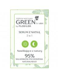 Serum z natką GREEN for skin etykieta
