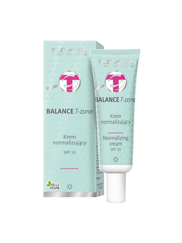 BALANCE T-ZONE Normalisierende Tagescreme SPF 10  50 ml - Floslek