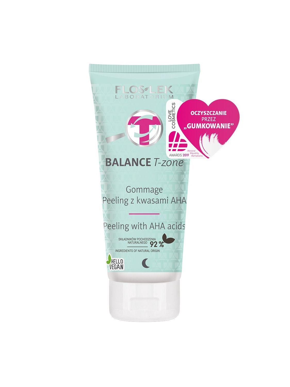 BALANCE T-ZONE Gommage Peeling with AHA acids - 125g - Floslek
