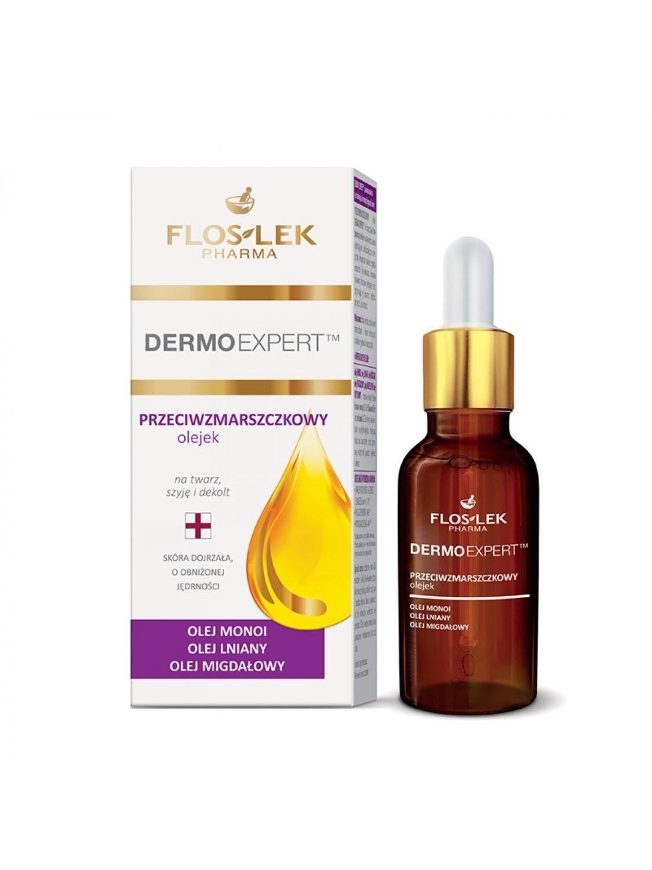 Olejek przeciwzmarszczkowy DERMO EXPERT z naturalnymi olejkami FLOSLEK 30ml