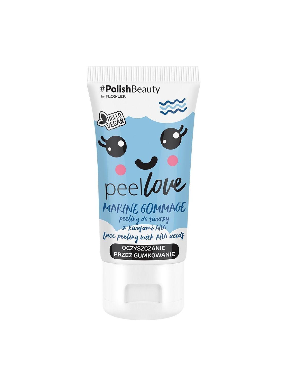 PEELLOVE® Marine Gommage Gesichtspeeling mit AHA-Säuren 75 ml- Floslek