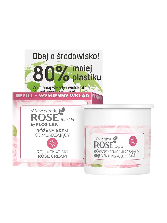 ROSE FOR SKIN Różane ogrody Różany krem odmładzający na dzień [REFILL] 50 ml - Floslek