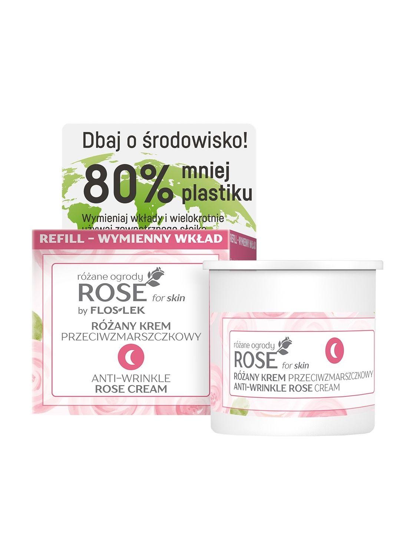 ROSE for skin Anti-wrinkle rose night cream [REFILL] - 50 ml - Floslek