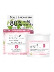 ROSE FOR SKIN Różane ogrody  Różany krem przeciwzmarszczkowy na noc [REFILL] 50 ml - Floslek