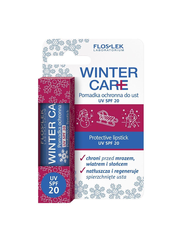 Pomadka ochronna do ust WINTER CARE z filtrem UV SPF20 i witaminą E FLOSLEK