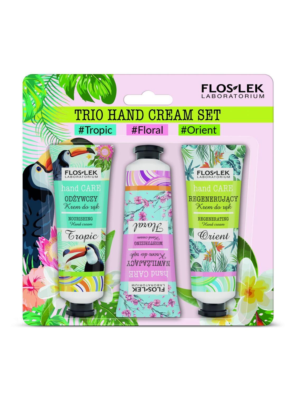 Trio Hand Cream Set (tropic, floral, orient) - Floslek