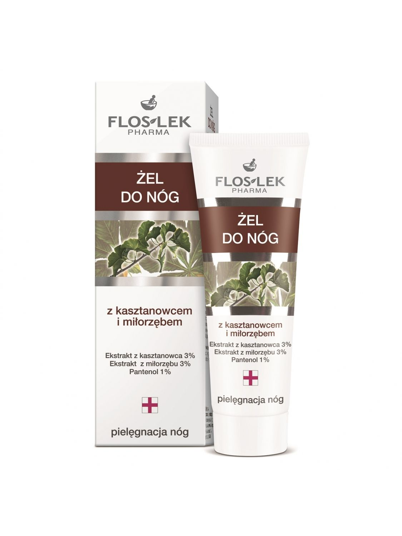Leg gel with horse chestnut and ginkgo biloba - 50 ml - Floslek