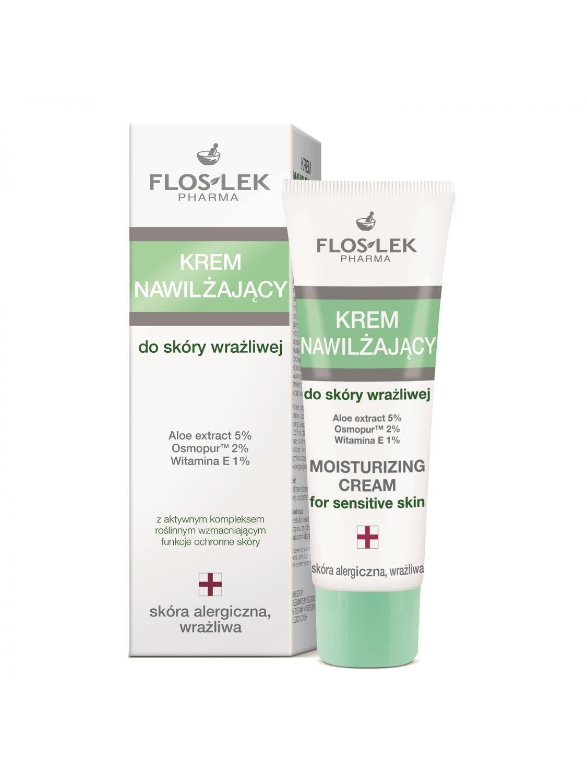 Feuchtigkeitscreme für empfindliche Haut 50 ml - Floslek
