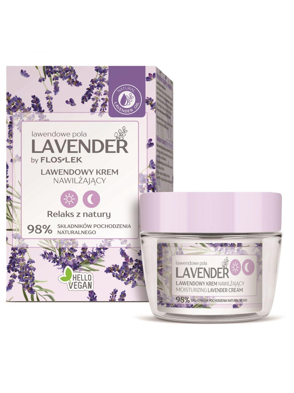 LAVENDER Lavendelfelder Tag & Nacht Feuchtigkeitsspendende Creme mit Lavendel - 50 ml - Floslek