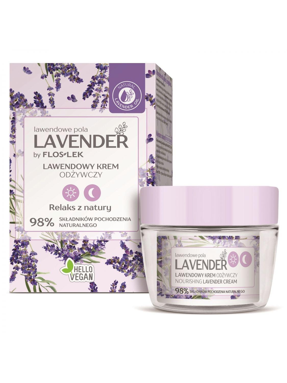 LAVENDER Lavendelfelder Tag & Nacht Nährstoffreiche Creme mit Lavendel - 50 ml - Floslek