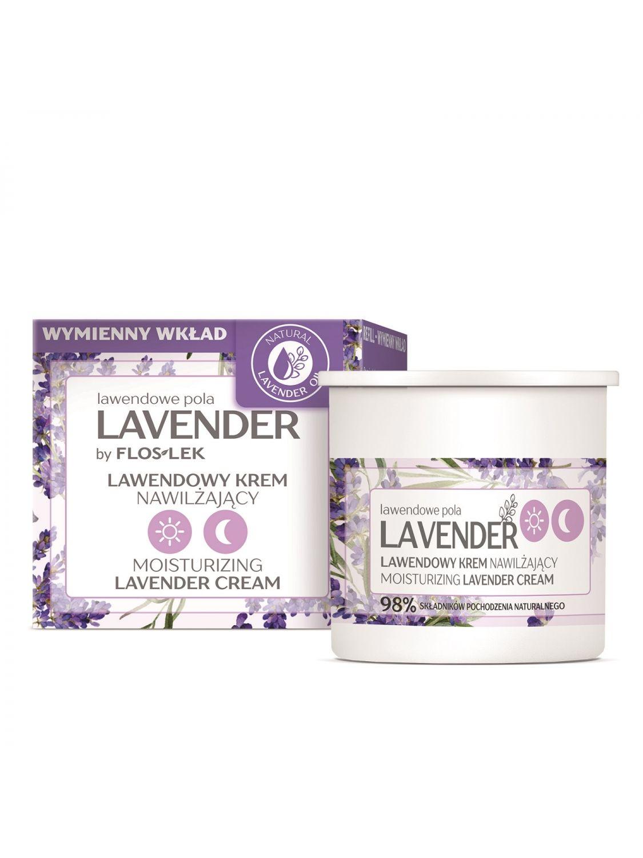 LAVENDER Lavendelfelder Tag & Nacht Feuchtigkeitsspendende Creme mit Lavendel [REFILL] 50 ml - Floslek