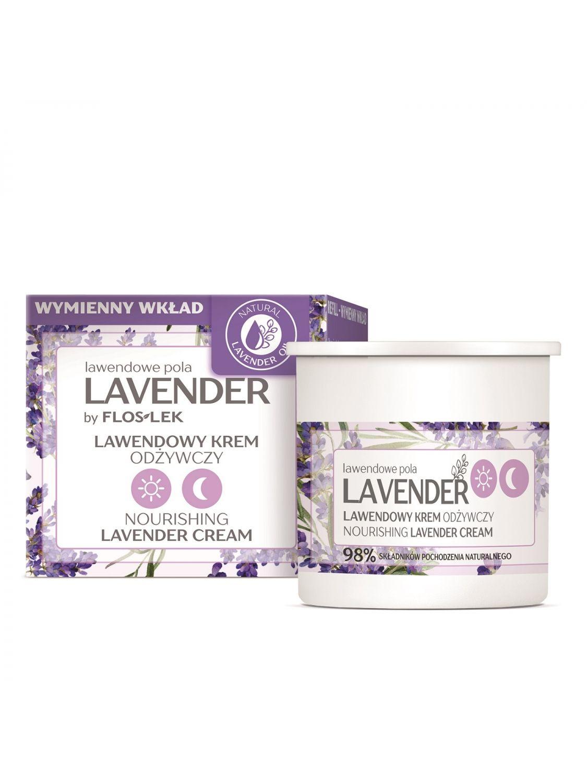 LAVENDER Lavendelfelder Tag & Nacht Nährstoffreiche Creme mit Lavendel [REFILL] 50 ml - Floslek