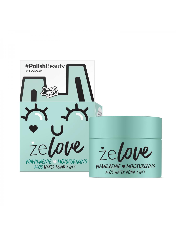 ŻELOVE® Moisturizing Aloe Water Bomb 2 In 1 - 50 ml - Floslek