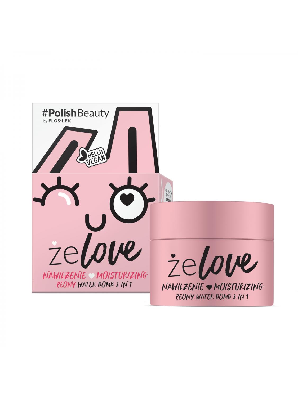 ŻELOVE® Moisturizing Peony Water Bomb 2 In 1 - 50 ml - Floslek