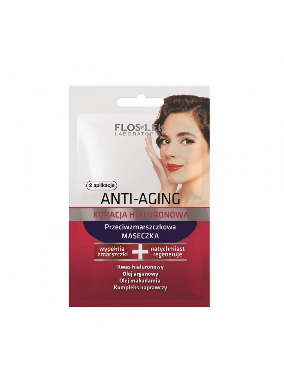 Kuracja Hialuronowa maseczka przeciwzmarszczkowa Floslek Anti_aging