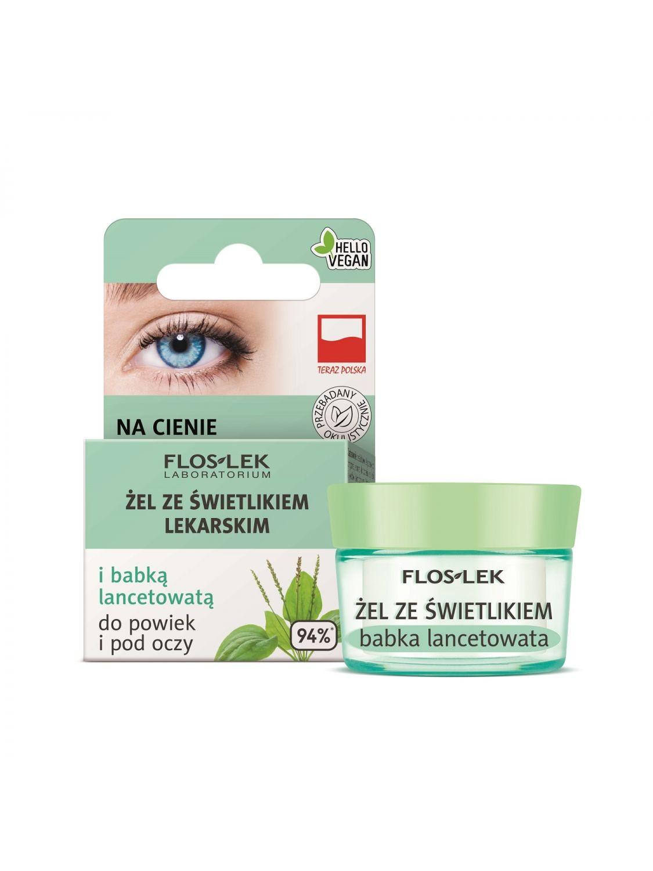 Гель для век и кожи вокруг глаз с очанкой лекарственной и подорожником ланцетолистным - 10 г