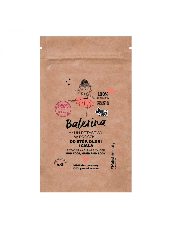 BALERINA Kaliumalaun-Pulver für Füße, Hände und Körper 25g