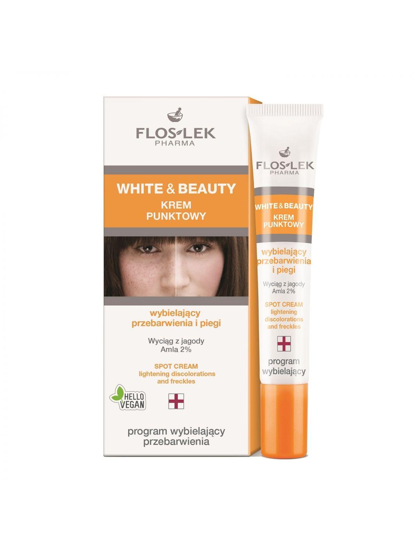 WHITE & BEAUTY® Aufhellende-Punkt-Creme für Flecken und Sommersprossen 20 ml - Floslek