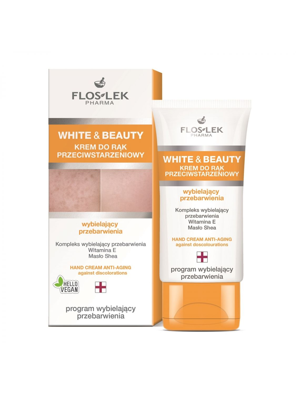 WHITE & BEAUTY® Hand Cream Anti-Aging against discolorations - 50 ml - Floslek