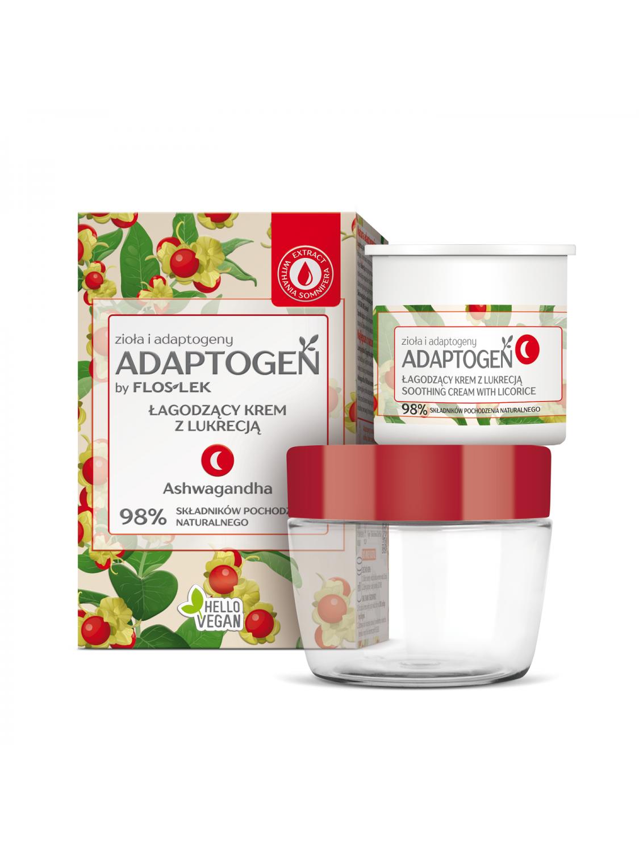 ADAPTOGEN Soothing night cream with licorice - 50 ml - Floslek