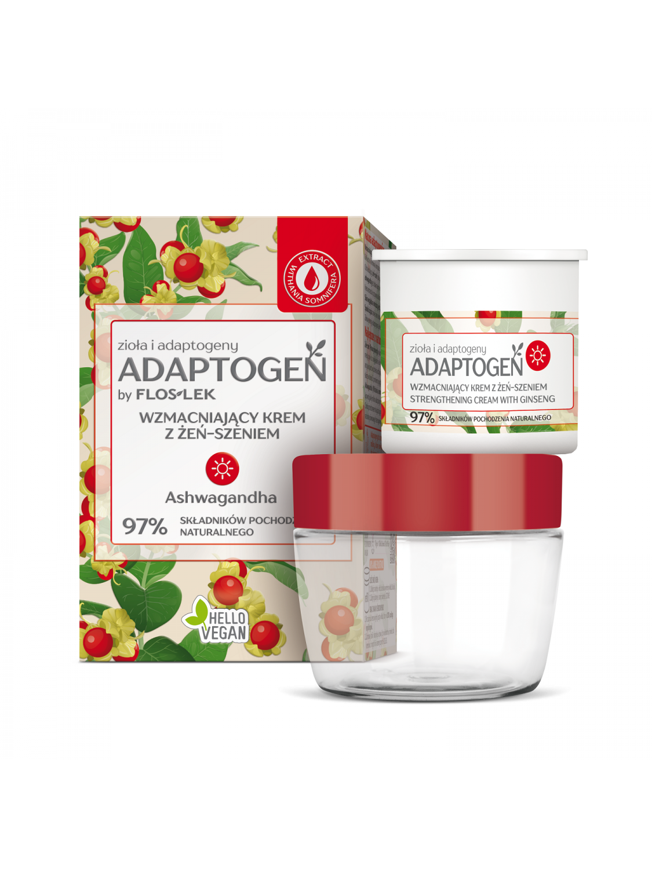ADAPTOGEN Strengthening day cream with ginseng - 50 ml - Floslek