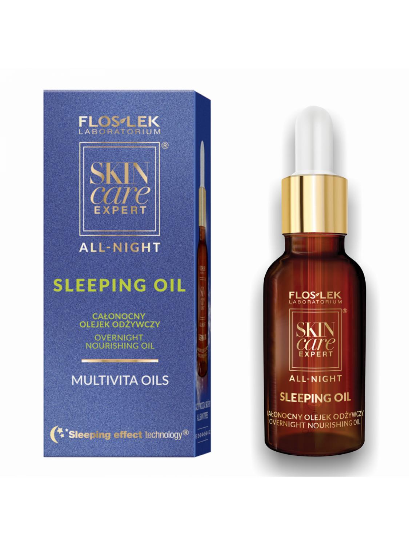 olejek odżywczy z olejkiem arganowym i witaminą A+E Floslek Skin care Expert ALL NIGHT