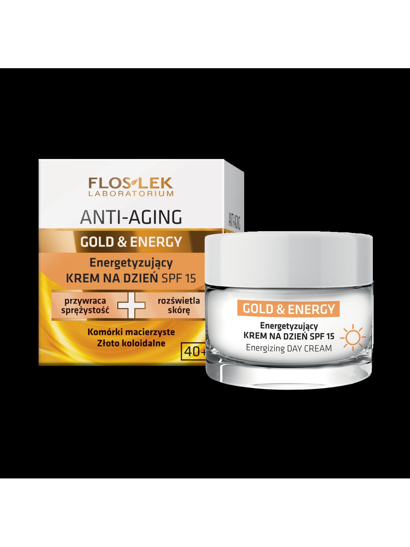 ANTI-AGING GOLD & ENERGY® Energizing day cream SPF 15 - 50 ml - Floslek