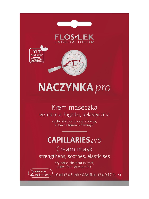 Krem w formie maseczki odżywczej dla cery naczynkowej NACZYNKA pro Floslek Saszetka 2x5 ml