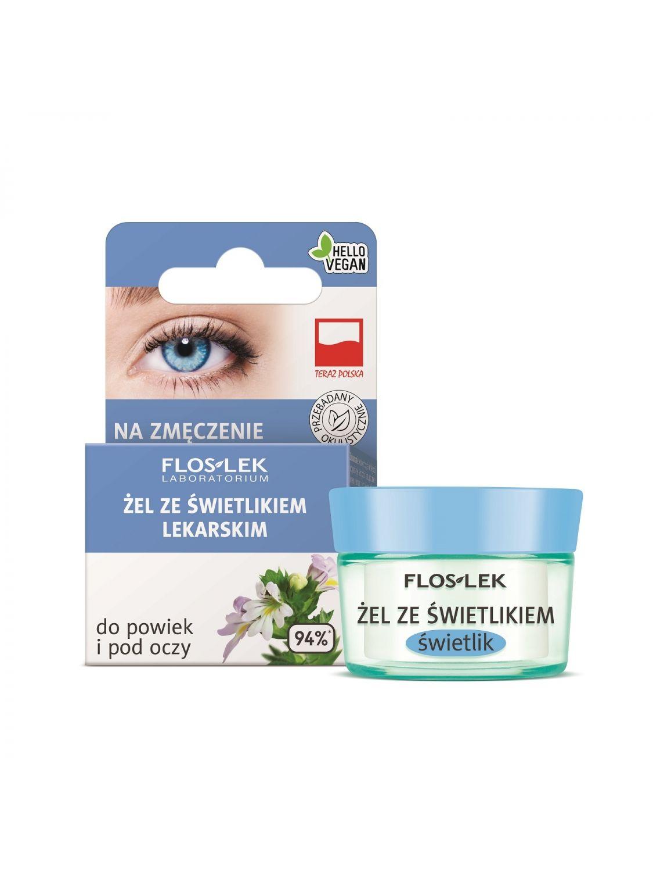 Lid and under eye gel with eyebright for fatigue - 10g - Floslek