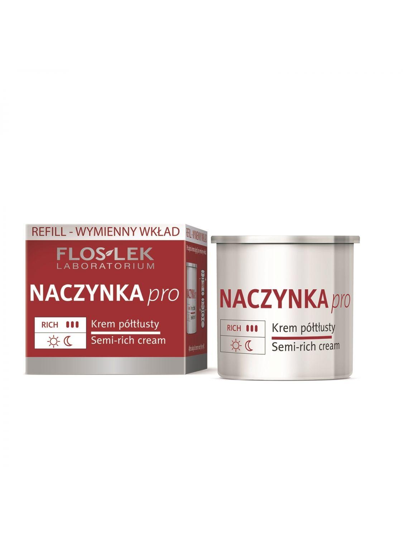 BLUTGEFÄSSE PRO Halbfettcreme Refill (Nachfüllpackung) 50 ml - Floslek
