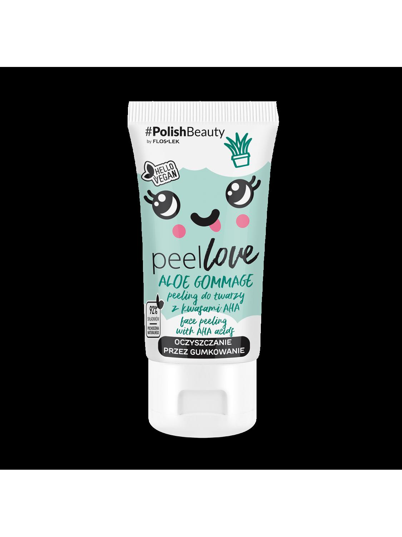 PEELLOVE® Aloe Gommage Gesichtspeeling mit AHA-Säuren - 75 ml - Floslek