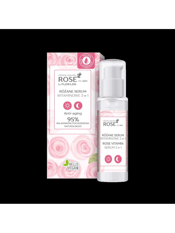 ROSE for skin Розовые сады Розовая витаминная сыворотка 3-в-1