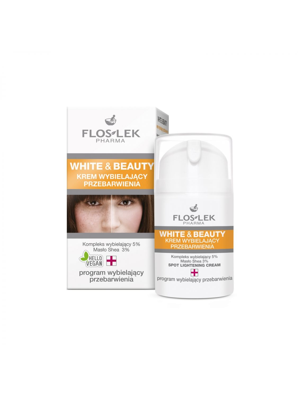 WHITE & BEAUTY® Aufhellende Creme für Verfärbungen 50 ml - Floslek