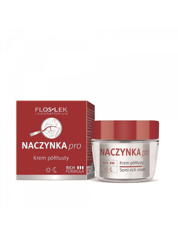 Krem do twarzy półtłusty dla cery wrażliwej i naczynkowej reaktywnej na dzień i na noc FLOSLEK 50ml